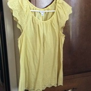 Yellow flirty top